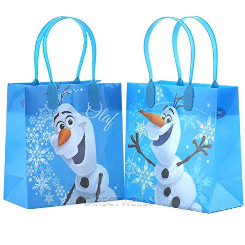 Disney Frozen Olaf Blue Premium Quality Party Favor Reusable Goodie Small Gift Bags 12 (12 Bags) by Disney -