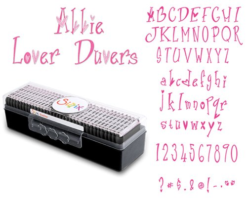Sizzix 655323 Sizzlits Alphabet Set of 35 Dies - Abbie Lover Duvers by STU -