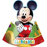 Procos 81516 - Cappellini Carta Mickey Mouse Club House, 6 Pezzi, Multicolore