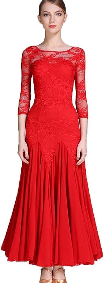 Nowoczesna walc taniec taniec sukienka ubranie przećwiczenia dla kobiet Performance żyłek sali balowej Outfit informuje naturalny sukienka 2 sztuki: Odzież