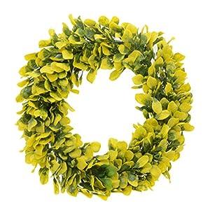 "Saim 15""-16"" Artificial Round Wreath Spring Front Door Wreath Garland Home Office Wall Wedding Decor 4"
