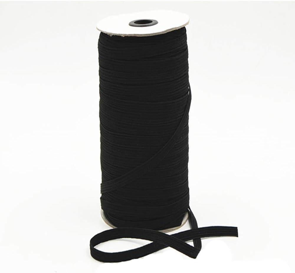 //Bedspread Band Black ZJG 1//2 in-100Yards Black Elastic Cord//Elastic Band//Elastic Rope//Bungee//White Heavy Stretch Knit Elastic Spool