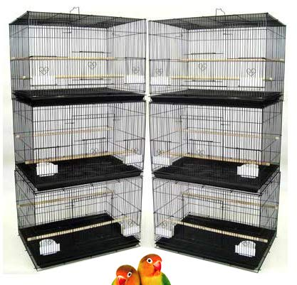 """Mcage Lot of 6 Aviary Breeding Bird Finch Parakeet Finch Flight Cage 24"""" x 16"""" x 16""""H (Black) from Mcage"""