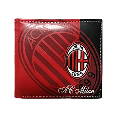 Football Club Wallet Soccer Team Logo Printed Wallet Unisex PU Leather Wallets for Football Fans