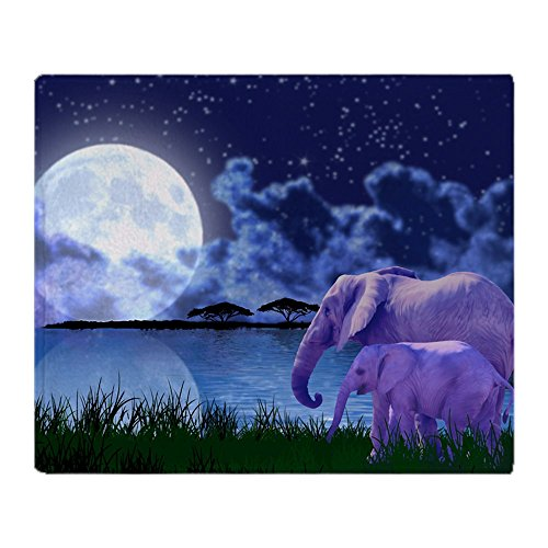 CafePress Contemplative Elephants Blanket Stadium