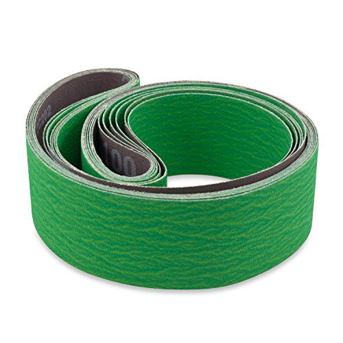2 X 42 Inch 80 Grit Metal Grinding Ceramic Sanding Belts, Extra Long Life, 6 Pack by Red Label Abrasives