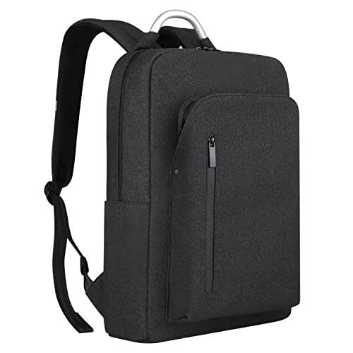 REYLEO Backpack Business Laptop Backpack Water Resistant School Backpack Casual Daypack Fits up to 15.6 inch Notebook Computer for Travel Work College(Dark Grey)