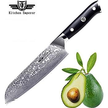 Amazon Com Kitchen Emperor 7 Inch Santoku Knife
