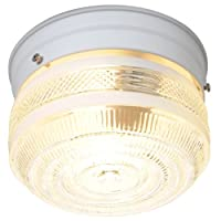 AF Lighting 671490 Ceiling Light Fixture, White, 6-1/2-Inch D by 4-1/2-Inch H