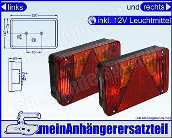 Radex 5800 Multifunktionsleuchten 12v Set Rückleuchten Rücklichter Set Inkl 12v Lm Auto