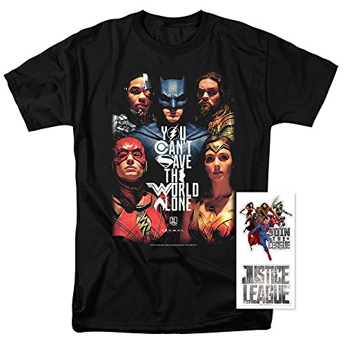 Justice League Movie DC Comics T Shirt (X-Large)