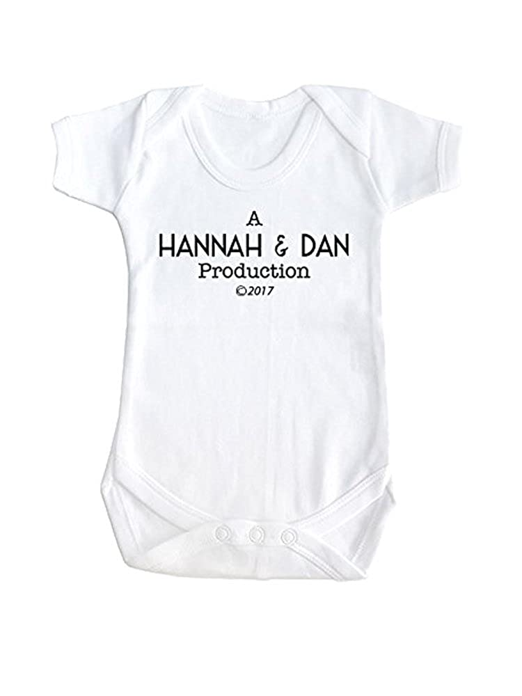 SMARTYPANTS Personalised Parent Name Baby Film Style Production Funny Slogan Baby Grow Vest