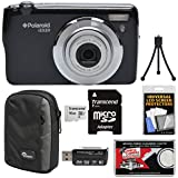 Polaroid iEX29 18MP 10x Digital Camera (Black) 16GB Card + Case + Reader + Mini Tripod + Kit