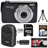 Polaroid iEX29 18MP 10x Digital Camera (Black) 16GB Card + Case + Reader + Mini Tripod + Kit