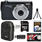 Polaroid iEX29 18MP 10x Digital Camera (Black) with 16GB Card + Case + Reader + Mini Tripod + Kit