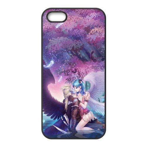 J6I15 Aion The Tower of Eternity T9U6NM coque iPhone 5 5s cellulaire cas de téléphone couvercle coque noire XD0FLY2RT