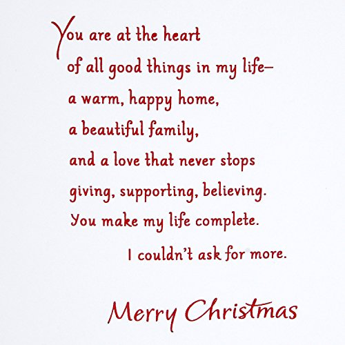 Hallmark Christmas Card for Wife (Heart of All Good Things) Photo #6