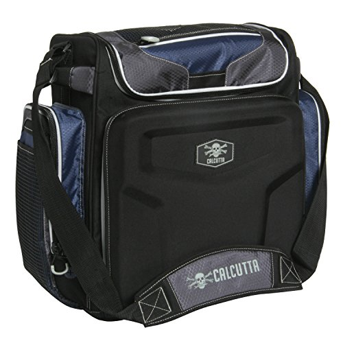 Calcutta Explorer Non-Rolling Tackle Bag with 5 3700 Trays w/ PVC Lure Lid by Calcutta