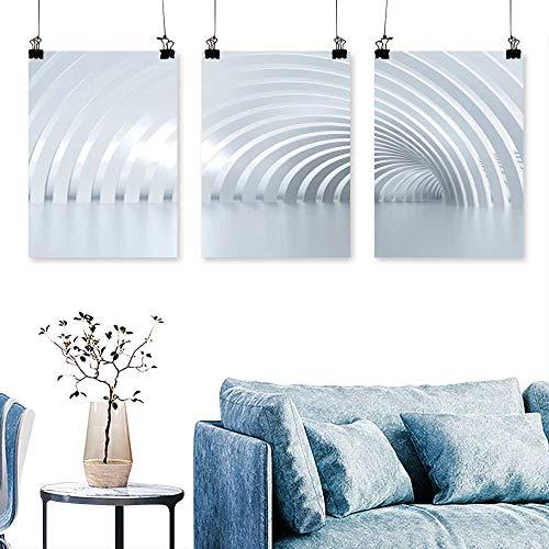 (SCOCICI1588 3-Piece Home Decoration Turn The Shine Corridor Columns Light mak The Way ahea Artwork for Wall Decor Triptych 24 INCH X 35 INCH X)