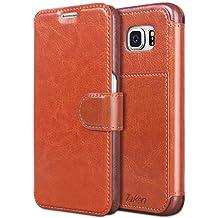 Taken Galaxy S6 Wallet Case - S6 Case Pu Leather - Card Slot - Slim - Not Edge Case for Samsung Galaxy S6 (Dark Brown)