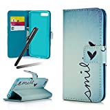 iPhone 6S Case,iPhone 6 Case,iPhone 6 Wallet Cover,Flip Stand Case for iPhone 6 / 6S,SKYMARS PU Leather Shock Absorbing Bumper Art Painting Flip Folio Kickstand Cards Slot Wallet Magnetic Closure Protection Book Style Case for iPhone 6 / 6S 4.7 inch Smile