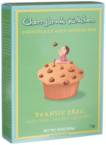 cherrybrook kitchen chocolate chip muffin mix peanut free 18 ounce