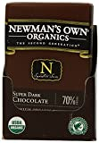 Newman's Own Organics Organic Premium Chocolate Bar, Super Dark 70% Cocoa, 2.25-Ounce Bars (Pack of 12)