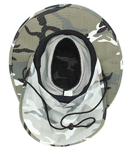 324a6243fdc98 JFH Wide Brim Bora Booney Outdoor Safari Summer Hat w Neck Flap   Sun  Protection
