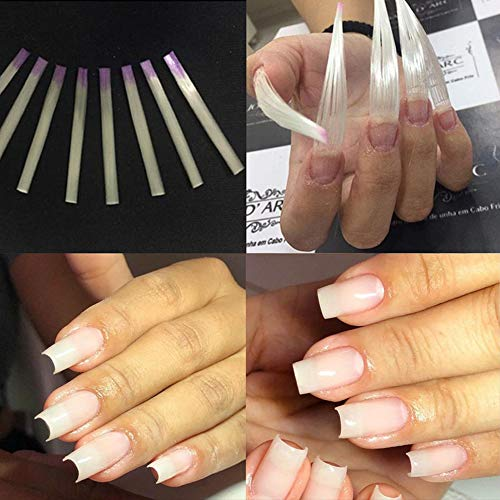 Nail Art Equipment Fibernails Fiberglass for Nail Extension Acrylic Nails Tips Fibra de Vidro Unha Pack of 30pcs + Bonus 6 pcs pinching clips