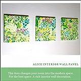ファブリックパネル アリス GREENGARDEN 30×30×2.5cm 3枚セット グリーンガーデン 木 グリーン 北欧 おしゃれ インテリア 【同梱可】