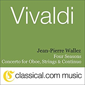 Amazon.com: Concerto for Oboe, Strings and Continuo in D