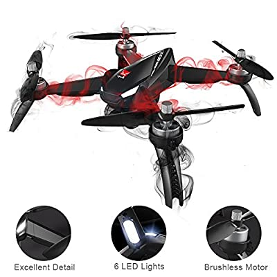 XFUNY MJX B5W Bugs 5 W RC Quadcopter 1080P 5G WiFi Camera Live Video 2.4GHz Remote Control Aircraft 6-Axis Gyro FPV Drone with GPS Return Home, Altitude Hold, Follow Me, 2 Battery (B5W) from XFUNY