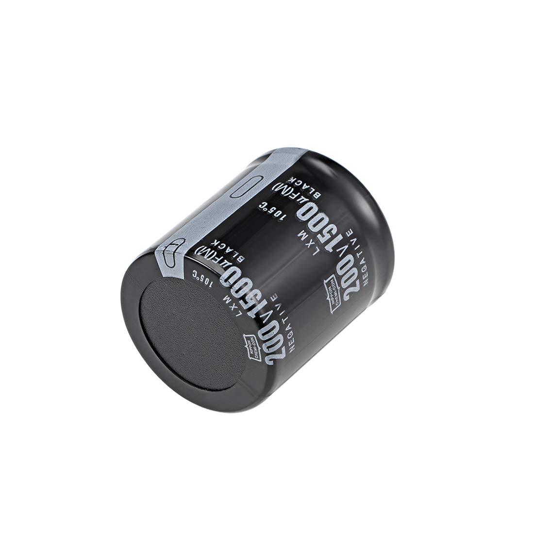 Aluminum Electrolytic Capacitors 105C High Temp 3pcs uxcell 1500uF 200V Capacitor