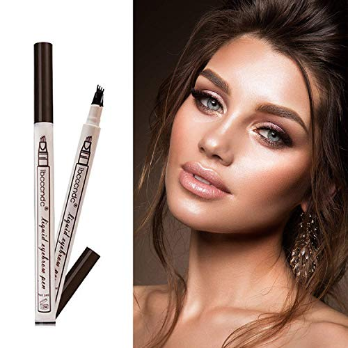Tattoo Eyebrow Pen Waterproof Ink Gel Tint with Four Tips, Long Lasting Smudge-Proof Natural Hair-Like Defined Brows All Day (Chestnut) by AsaVea (Image #5)