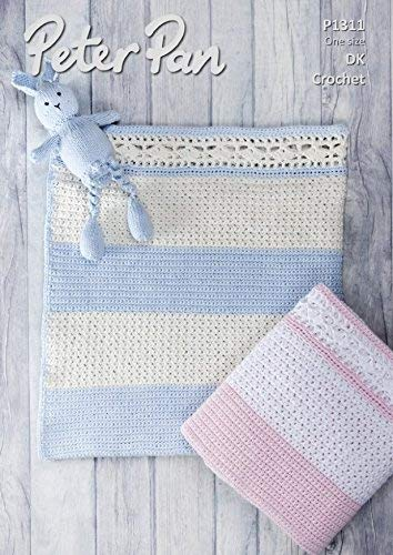 Peter Pan Baby Blanket.Peter Pan Baby Blanket Baby Cotton Crochet Pattern 1311 Dk