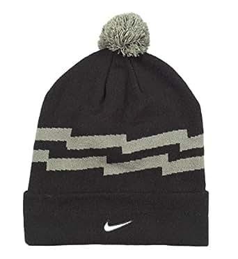 Nike Men's Pom Knit Beanie One Size Black Grey