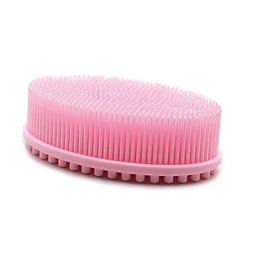 Amazon Com Silicone Bath Brush Shampoo Soft Body Shower Head