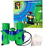 FBMgear 8x21 Kids Binoculars Set - High Resolution - Compact - Outdoor Play - Bird Watching Toys for Boys and Girls - Durable - Shock Proof - Amazing Gift - Presents for Children