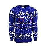 Official Playstation Symbols Christmas Jumper/Ugly Sweater UK L/US M Blue