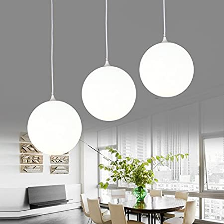 Lfnrr Led Chandelier Dining Room Lighting Living Room Round Three Suspended Lighting Ideas Modern Minimalist Meal Bar Three Heads Amazon Co Uk Kitchen Home
