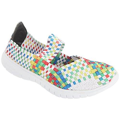 Shoes Blue Slip Divaz Light Drift Womens Ladies Woven On U4qUCpSHxw
