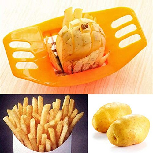 Kitchen Cooking Tool gadgets Stainless Steel Fries Potato Cutter Slicer Chopper]