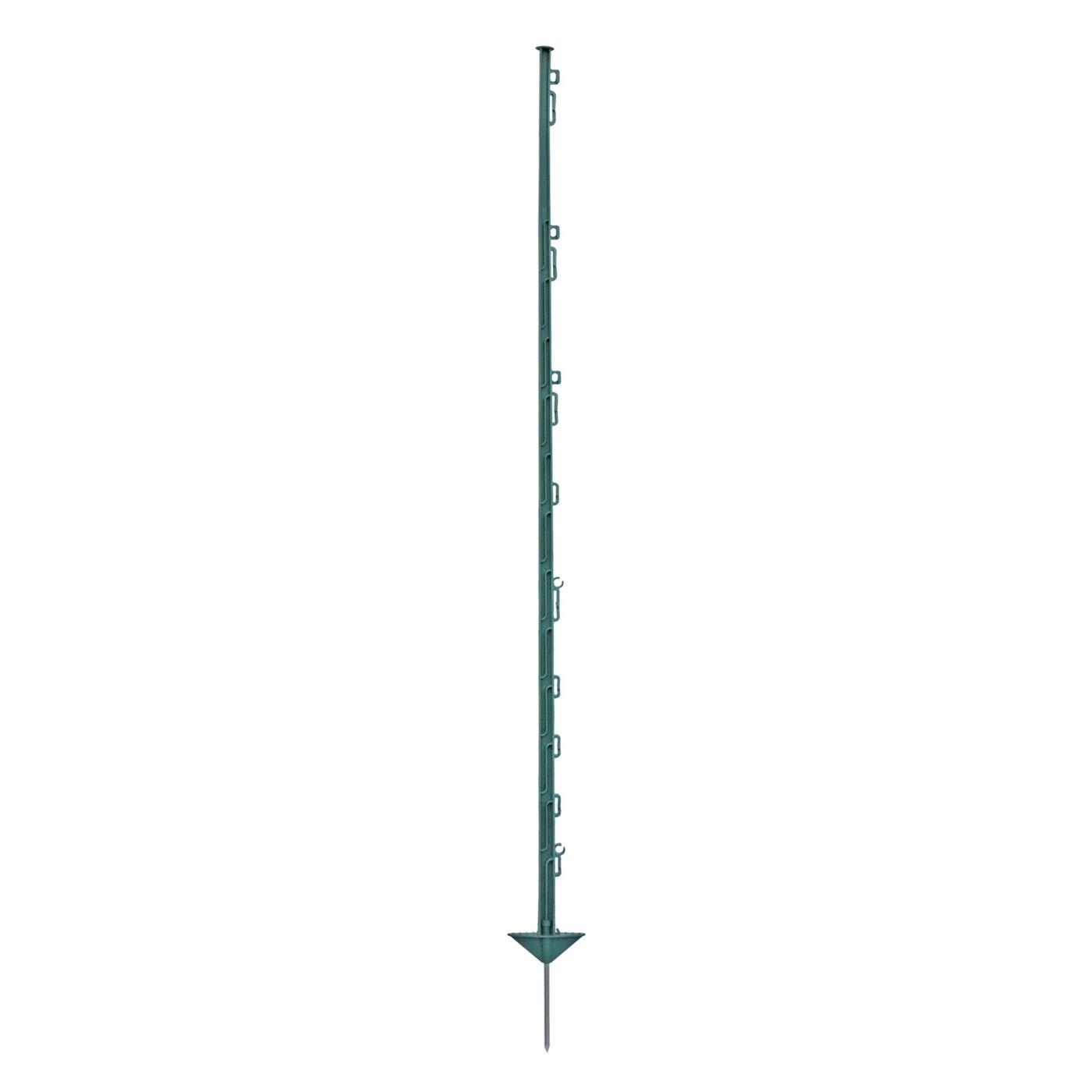 20x piquets en plastique, 150cm, 14 oilletons, couleur verte