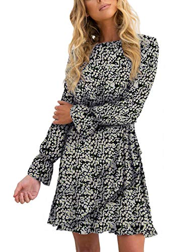 Long Sleeve Ruffle Short Dress