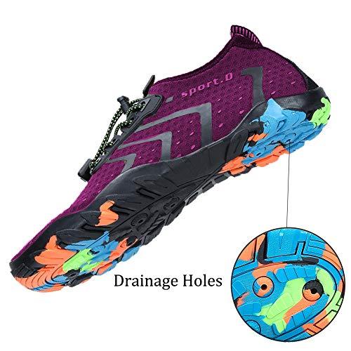 Purple Lightweight Beach Shoes Shoes Slip Mens Running Dry Swim Water Barefoot Quick On Womens Sport for Aqua River Oberm HvUxPFw