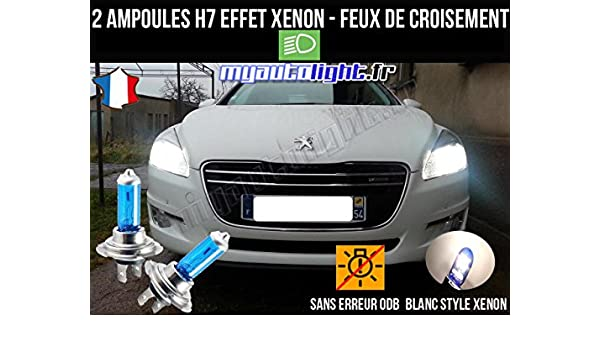 MyAutoLight - Pack de bombillas de luces de cruce para Peugeot 508 (H7 Xenon), color blanco: Amazon.es: Coche y moto