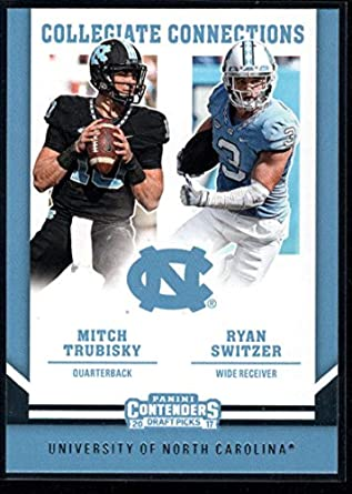 Amazon.com  2017 Panini Contenders Draft Picks Collegiate Connections  3  Mitchell Trubisky Ryan Switzer NFL Football Card NM-MT  Collectibles   Fine  Art 12e129b5f