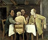 Oil Painting 'Karl Hofer - Men Round A Table, 20th Century' Printing On High Quality Polyster Canvas , 16x19 Inch / 41x49 Cm ,the Best Gym Artwork And Home Decoration And Gifts Is This Vivid Art Decorative Canvas Prints