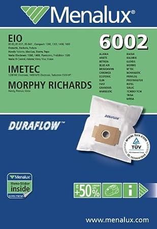 8   Staubsaugerbeutel Swirl EIO80  für Menalux 6002
