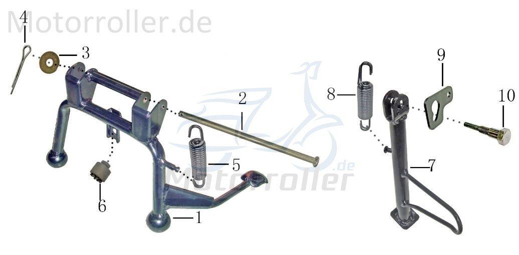 Xfight-Parts Feder Hauptst/änder Innenl/änge 85x2.5mm 2Takt 50ccm YY50QT-28 BT20005 f/ür Rex RS 450